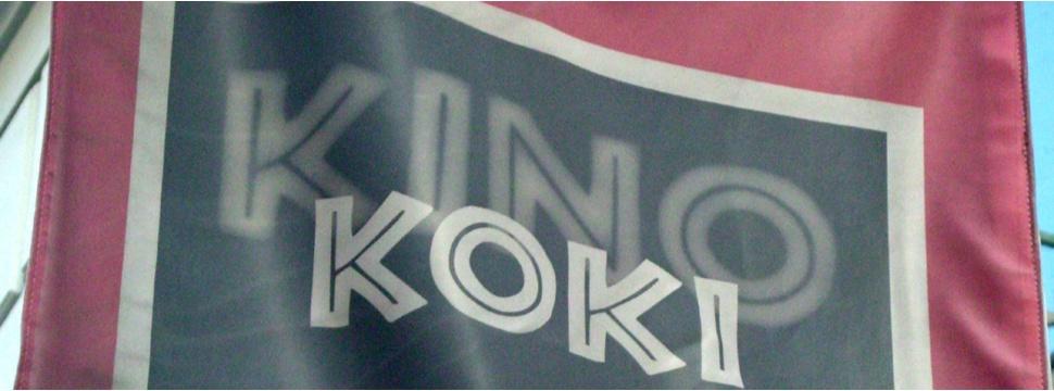 Die Flagge des kommunalen Kinos Koki