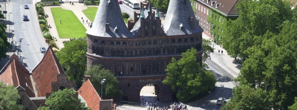 Das Wahrzeichen Lübecks: das Holstentor