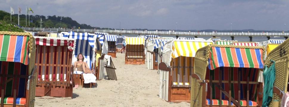 Sommer, Sonne und Strandkörbe am Timmendorfer Strand