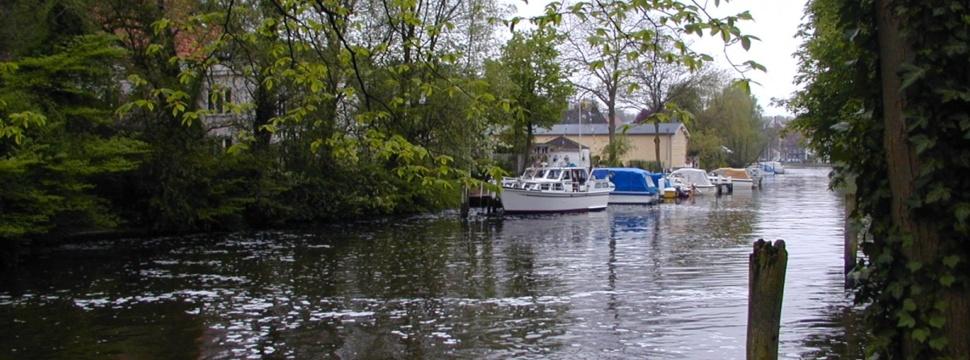 Einer der Wasserwege in Lübeck